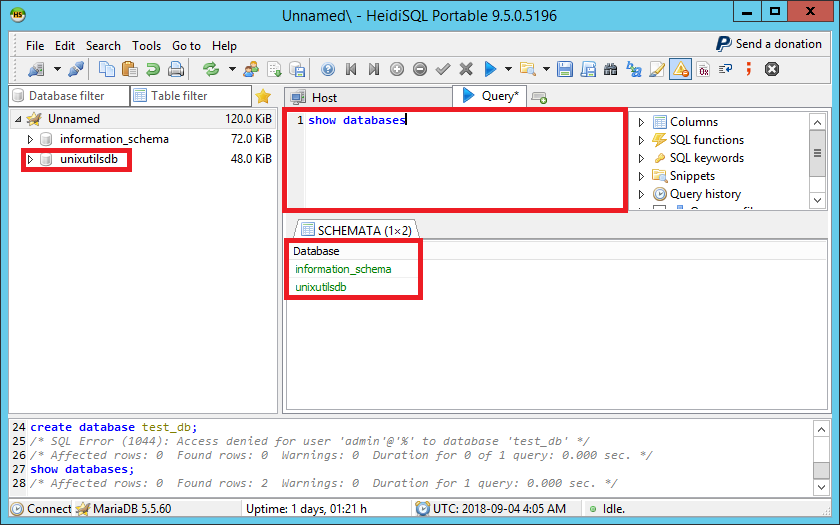 mariaDB CRUD Operations: part 1 - UnixUtils