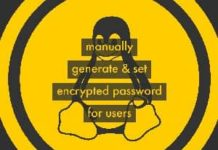 manually generate and set encrypted password