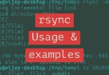 rsync usage with examples