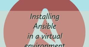Installing Ansible in a virtual environment