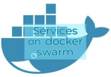 Services on docker swarm